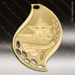Medallion Gold Flame Series Scholastic Star Performer Medal School Scholastic Medals