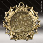 Medallion Ten Star Series Scholastic Math Medal School Scholastic Medals