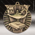 Medallion Victory Series Scholastic Lamp of Knowledge Medal School Scholastic Medals