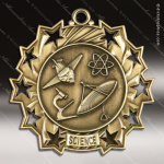 Medallion Ten Star Series Scholastic Science Medal School Scholastic Medals