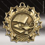 Medallion Ten Star Series Scholastic Lamp of Knowledge Medal School Scholastic Medals