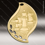 Medallion Gold Flame Series Chess Medal School Scholastic Medals