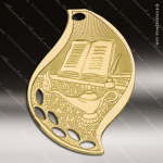 Medallion Gold Flame Series Scholastic Lamp of Knowledge Medal School Scholastic Medals