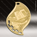 Medallion Gold Flame Series Scholastic Honor Roll Medal School Scholastic Medals