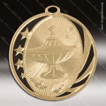 Medallion MidNite Series Scholastic Lamp of Knowledge Medal School Scholastic Medals