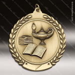 Medallion Die Cast Series Scholastic Lamp of Knowledge Medal School Scholastic Medals