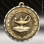 Medallion Diamond Edge Series Scholastic Lamp of Knowledge Medal School Scholastic Medals