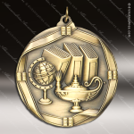 Medallion Wreath Cast Series Scholastic Lamp of Knowledge Medal School Scholastic Medals