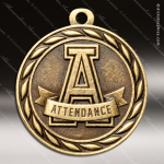 Medallion Sculpted Series Scholastic Attendance Medal School Scholastic Medals