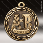 Medallion Sculpted Series Scholastic A-B Honor Roll Medal School Scholastic Medals