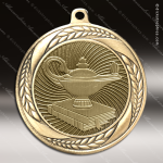 Medallion Laurel Wreath Series Scholastic Lamp of Knowledge Medal School Scholastic Medals