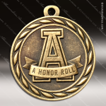 Medallion Sculpted Series Scholastic A Honor Roll Medal School Scholastic Medals