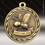 Medallion Sculpted Series Scholastic Spelling Bee Medal School Scholastic Medals