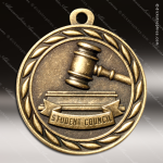 Medallion Sculpted Series Scholastic Student Council Medal School Scholastic Medals