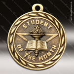 Medallion Sculpted Series Scholastic Student of the Month Medal School Scholastic Medals