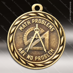 Medallion Sculpted Series Scholastic Math No Problem Medal School Scholastic Medals