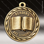 Medallion Sculpted Series Scholastic Readers Are Leaders Medal School Scholastic Medals