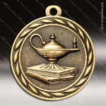 Medallion Sculpted Series Scholastic Lamp of Knowledge Medal School Scholastic Medals