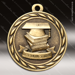 Medallion Sculpted Series Scholastic Outstanding Student Medal School Scholastic Medals