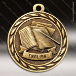 Medallion Sculpted Series Scholastic English Medal School Scholastic Medals
