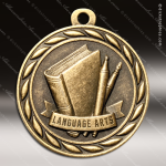 Medallion Sculpted Series Scholastic Language Arts Medal School Scholastic Medals