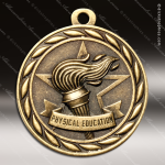 Medallion Sculpted Series Scholastic Physical Education Medal School Scholastic Medals