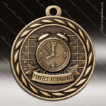 Medallion Sculpted Series Scholastic Perfect Attendance Medal School Scholastic Medals