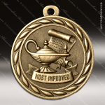 Medallion Sculpted Series Scholastic Most Improved Medal School Scholastic Medals