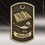Medallion Dog Tag 3-D Series Scholastic Lamp Of Knowledge Medal School Scholastic Medals