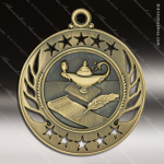Medallion Galaxy Series Scholastic Lamp of Knowledge Medal School Scholastic Medals