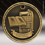 Medallion 3D Series Scholastic Reading Medal School Scholastic Medals
