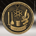 Medallion 3D Series Scholastic Science Medal School Scholastic Medals
