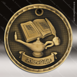 Medallion 3D Series Scholastic Lamp of Knowledge Medal School Scholastic Medals