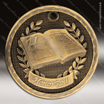 Medallion 3D Series Honor Roll Medal School Scholastic Medals