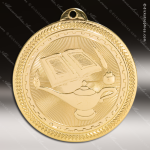 Medallion BriteLazer Series Scholastic Lamp of Knowledge Medal School Scholastic Medals
