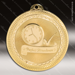Medallion BriteLazer Series Scholastic Perfect Attendance Medal School Scholastic Medals