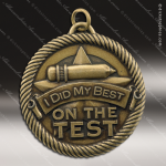 Medallion Value Series Scholastic Did My Best On Test Medal School Scholastic Medals