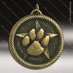 Medallion Value Series Paw Print Medal School Scholastic Medals