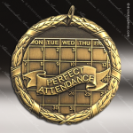 Medallion XR Series Scholastic Perfect Attendance Medal School Scholastic Medals