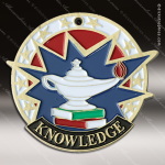 Medallion USA Sport Series Scholastic Lamp of Knowledge Medal School Scholastic Medals