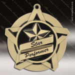 Medallion Super Star Series Star Performer Medal School Scholastic Medals