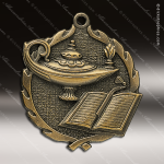 Medallion Wreath Series Scholastic Lamp of Knowledge Medal School Scholastic Medals
