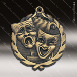 Medallion Wreath Series Scholastic Drama Medal - Theater School Scholastic Medals