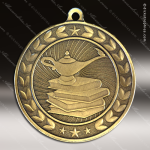 Medallion Illusion Series Scholastic Lamp of Knowledge Medal School Scholastic Medals
