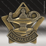 Medallion Star Series Scholastic Lamp of Knowledge Medal Star School Scholastic Medals
