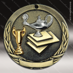Medallion Tri-Colored Series Scholastic Lamp of Knowledge Medal School Scholastic Medals