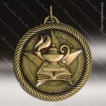 Medallion Value Scholastic Lamp of Knowledge Medal School Scholastic Medals