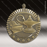 Medallion Five Star Series Scholastic Lamp of Knowledge Medal School Scholastic Medals