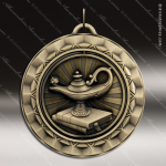 Medallion 360 Spin Series Scholastic Lamp of Knowledge Medal Spin School Scholastic Medals