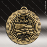 Medallion 360 Spin Series Scholastic Citizenship Medal School Scholastic Medals